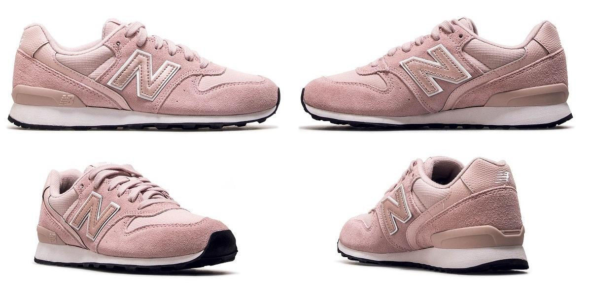różowe pastelowe damskie buty new balance 996