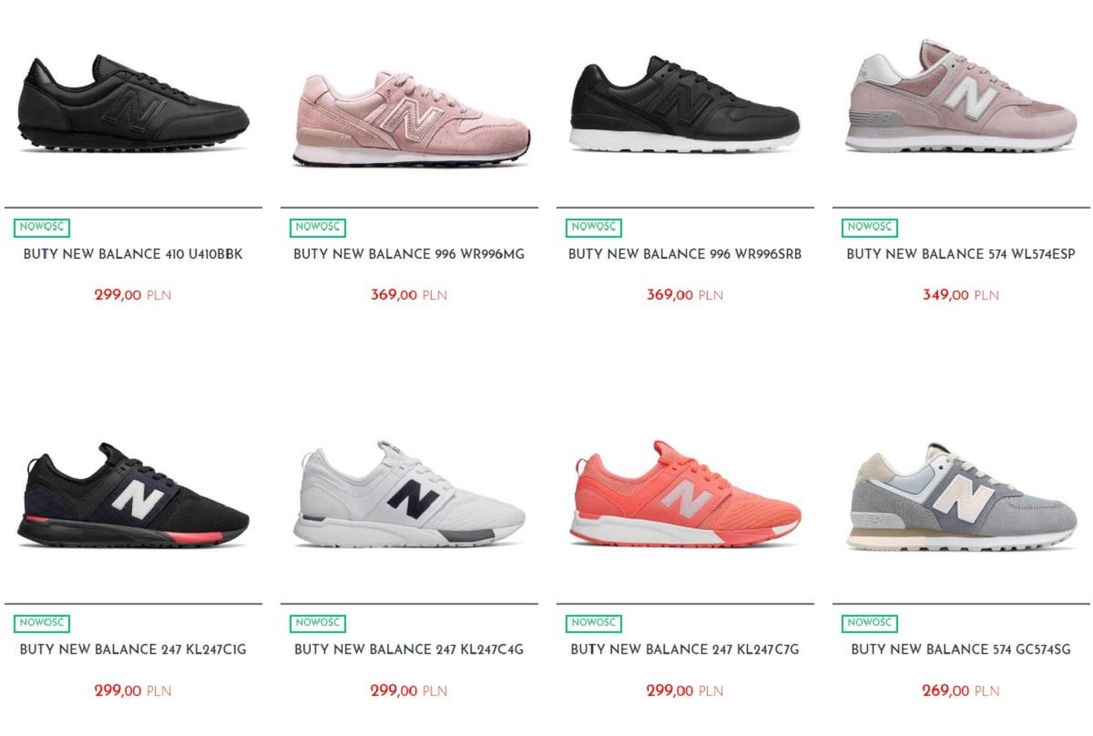 oferta damskich butów new balance od e-sporting