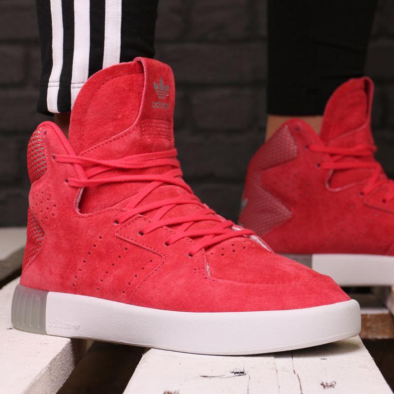 buty adidas czerwone za kostke damskie